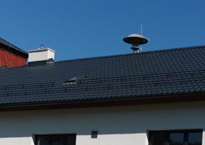Sedlová střecha na hasičské zbrojnici Lázně Bělohrad