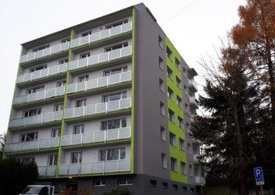 Regenerace bytového domu Stavbařů 4, Jablonec nad Nisou